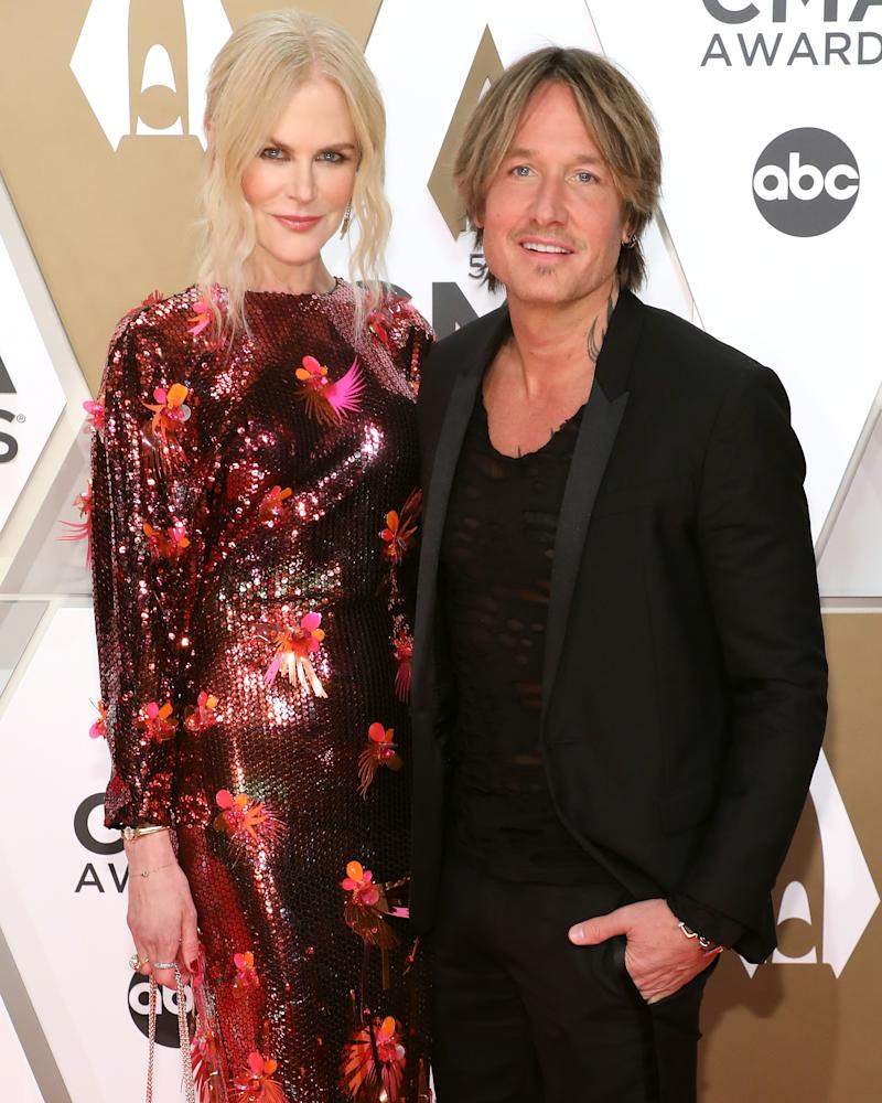 Nicole Kidman and Urban attend the 53nd annual CMA Awards at Bridgestone Arena on November 13, 2019 in Nashville, Tennessee.