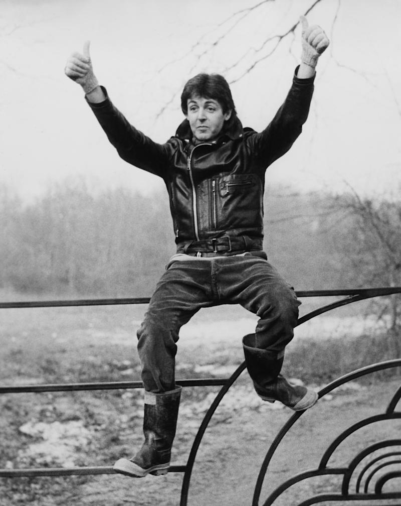Paul Mccartney In Countryside At Sussex In England On January 28Th 1980.