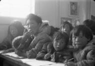 Students are seated at their desks in a classroom at the Eskimo Point Federal Hostel in Arviat, Nunavut in an undated archive photo. REUTERS/D.B. Marsh/Library and Archives Canada/e007914491/handout