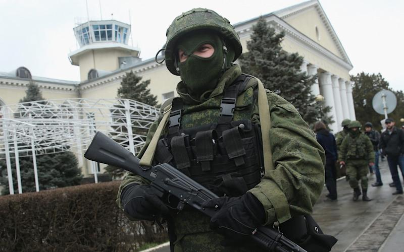 Russian soldiers seized control of Crimea from Ukraine in 2014 - Getty Images Europe