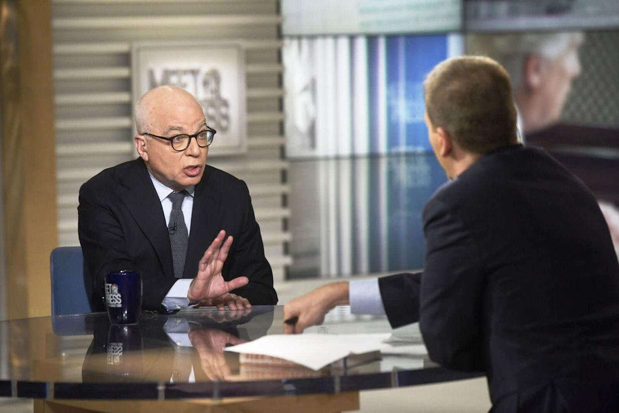 """Fire and Fury"" author Michael Wolff on Sunday spoke about concerns he said were expressed to him within the White House about President Donald Trump's mental health. (Photo: NBC)"