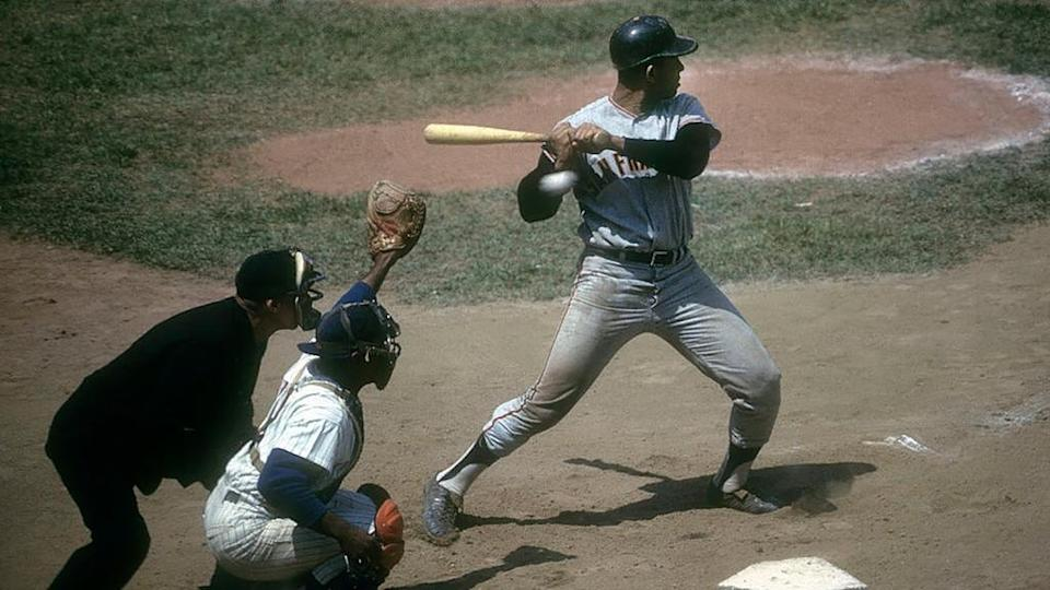 DO NOT RE-USE: Orlando Cepeda bats against Mets in 1964