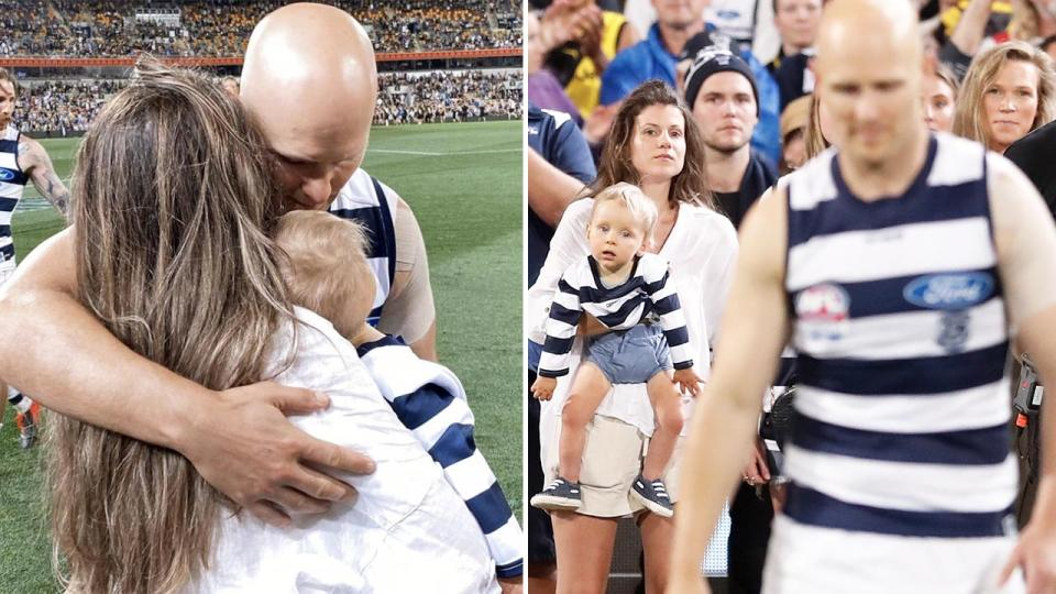 Gary Ablett, pictured here after Geelong's loss in the AFL grand final.