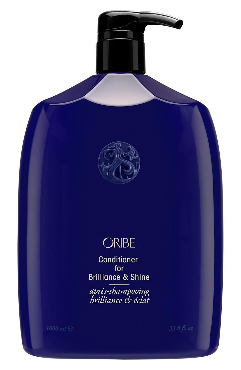 <p>Give your hair the hydration and shine-boost it needs with the <span>Oribe Conditioner for Brilliance &amp; Shine</span> ($52-$182), without feeling heavy.</p>