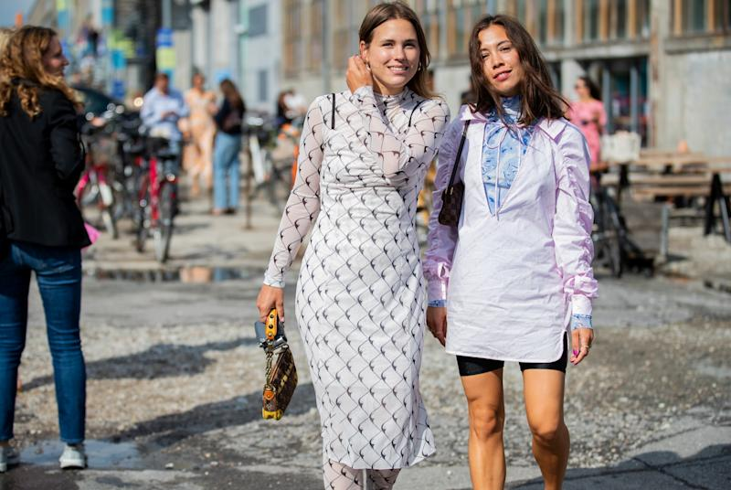 COPENHAGEN, DENMARK - AUGUST 08: Sabrina Meijer and Nicole Huisman seen outside Baum und Pferdgarten during Copenhagen Fashion Week Spring/Summer 2020 on August 08, 2019 in Copenhagen, Denmark. (Photo by Christian Vierig/Getty Images)