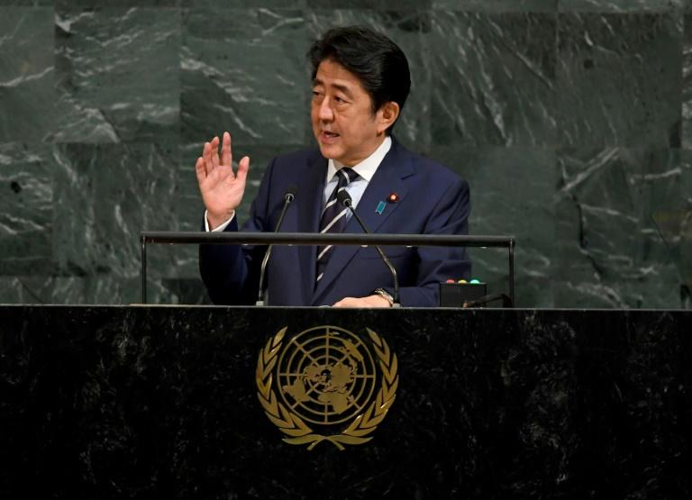 Japan's leader urges unity at United Nations  on North Korea