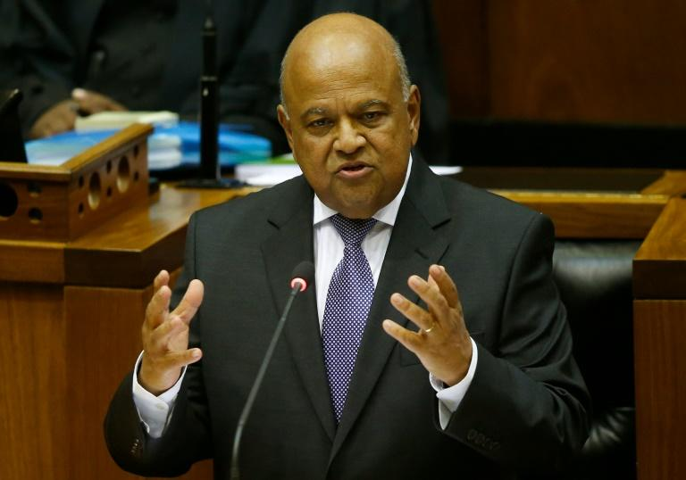 South Africa's Finance Minister Pravin Gordhan delivers his budget address to parliament in Cape Town on February 24, 2016