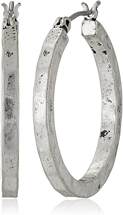 "<br><br><strong>Lucky Brand</strong> Silver-Tone Small Hammered Round Hoop Earrings, $, available at <a href=""https://amzn.to/3lKDaur"" rel=""nofollow noopener"" target=""_blank"" data-ylk=""slk:Amazon"" class=""link rapid-noclick-resp"">Amazon</a>"