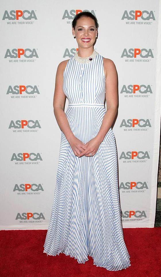 8. 13th Annual ASCAP Bergh Ball (2010)   In addition to not photographing well on the red carpet, Kat's seizure-inducing Lyn Devon dress makes her appear dowdy and us feel dizzy.