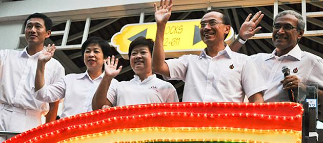 Minister Lim Hwee Hua is the latest to announce her decision to quit politics. The Aljunied team went on a Thank You parade on Tuesday. (Yahoo! photo/Liyana Low)