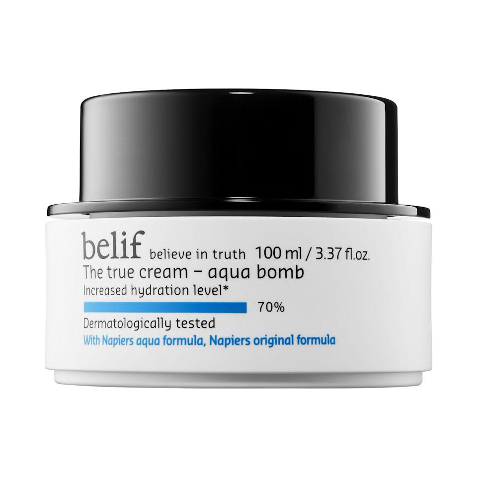 """<p><strong>Belif</strong></p><p>ulta.com</p><p><strong>$38.00</strong></p><p><a href=""""https://go.redirectingat.com?id=74968X1596630&url=https%3A%2F%2Fwww.ulta.com%2Fp%2Ftrue-cream-aqua-bomb-pimprod2013170&sref=https%3A%2F%2Fwww.harpersbazaar.com%2Fbeauty%2Fskin-care%2Fg37060038%2Fbest-korean-skin-care-products%2F"""" rel=""""nofollow noopener"""" target=""""_blank"""" data-ylk=""""slk:Shop Now"""" class=""""link rapid-noclick-resp"""">Shop Now</a></p><p>Belif's soothing gel-cream is like a glass of ice water for dehydrated skin, but soothing and weightless enough for just about any skin type.</p>"""