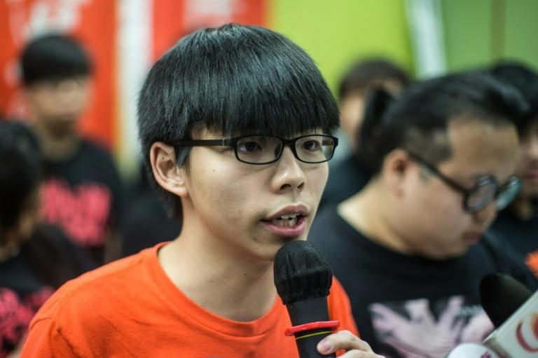 Pro-democracy student protester Joshua Wong was one of the leading figures in the mass rallies in 2014 that brought parts of Hong Kong to a standstill