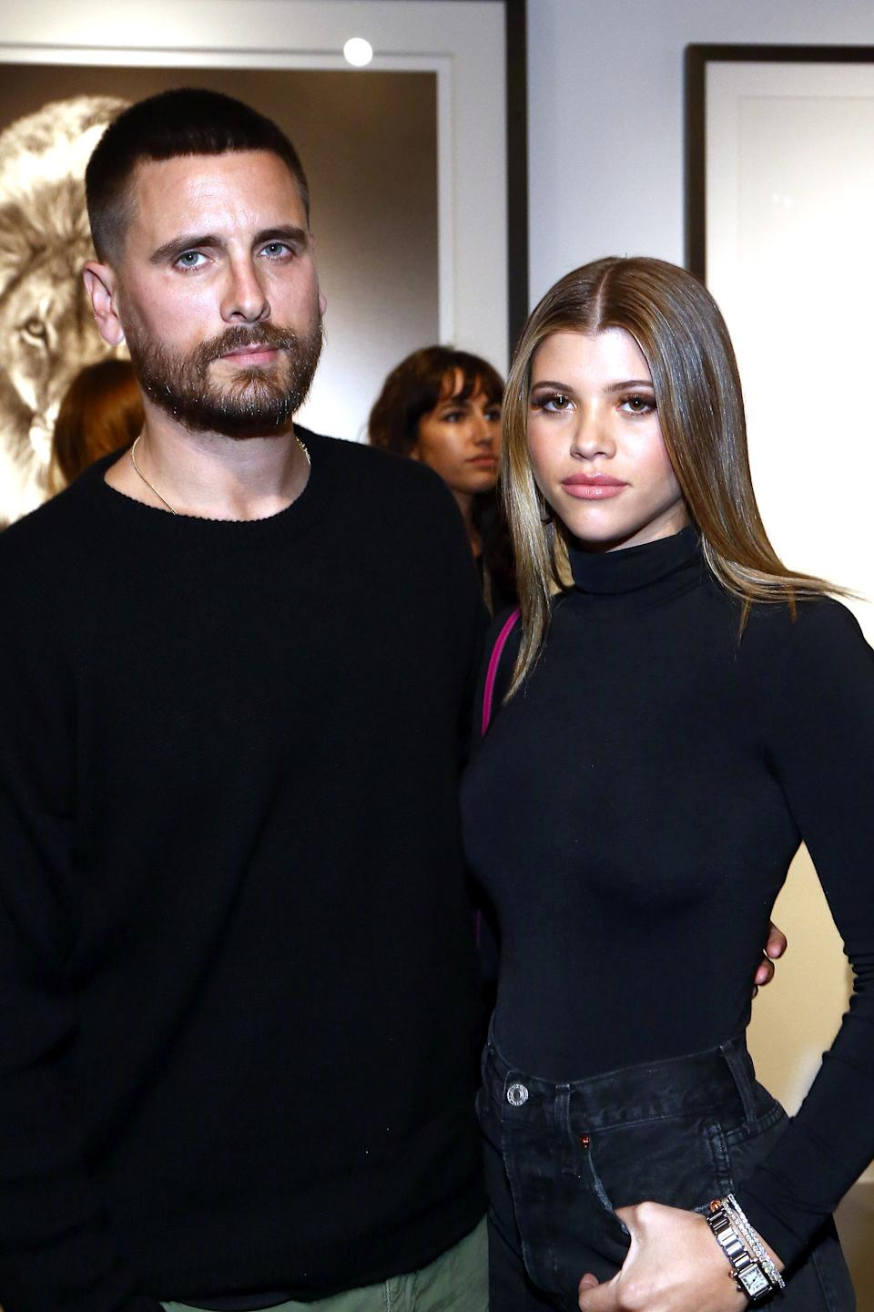 Scott Disick with girlfriend Sofia Richie in October. (Photo: Tommaso Boddi/Getty Images for Maddox Gallery)