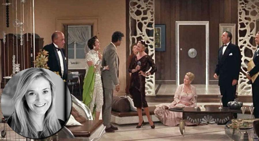 "<p>""The film that inspires me most is the 1958 comedy <i><a href=""http://www.imdb.com/title/tt0051383/?ref_=nv_sr_1"">Auntie Mame</a> </i>staring Rosalind Russell. Mame's apartment goes through wild style changes as she reinvents herself, with each new phase of her life marked by totally new décor, from Hollywood Regency to Chinoiserie to Midcentury Modern.""</p>"