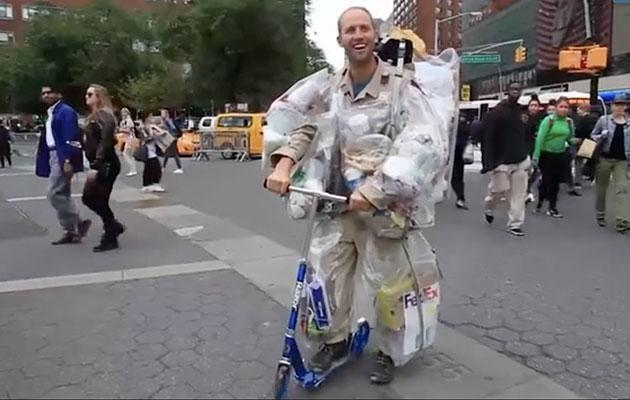 Forget the fancy car. A scooter will do! Source: YouTube