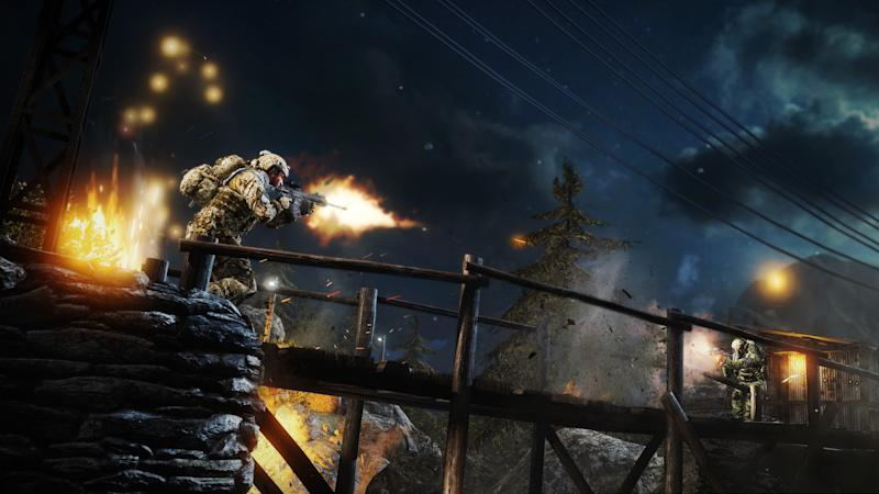 "This undated publicity photo released by Electronic Arts Inc. shows the downloadable ""Zero Dark Thirty"" map pack for the ""Medal of Honor: Warfighter"" video game."