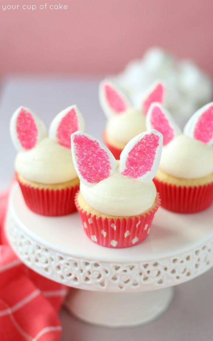"""<p>We can't wait to bite off those marshmallow sprinkle ears.</p><p><a href=""""http://www.yourcupofcake.com/2015/03/easy-bunny-cupcakes.html"""" rel=""""nofollow noopener"""" target=""""_blank"""" data-ylk=""""slk:Get the recipe from Your Cup of Cake »"""" class=""""link rapid-noclick-resp""""><em>Get the recipe from Your Cup of Cake »</em></a><br></p>"""