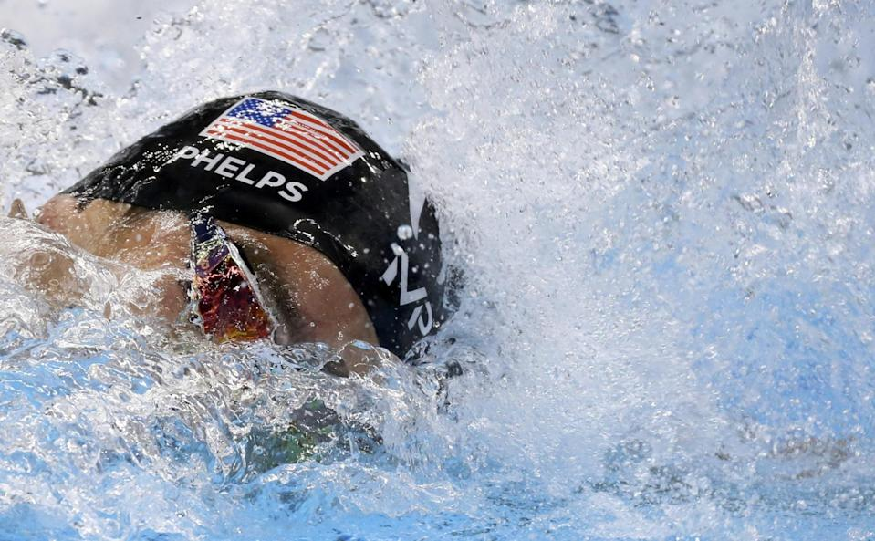 Michael Phelps swam his fastest 100 free. (Reuters)