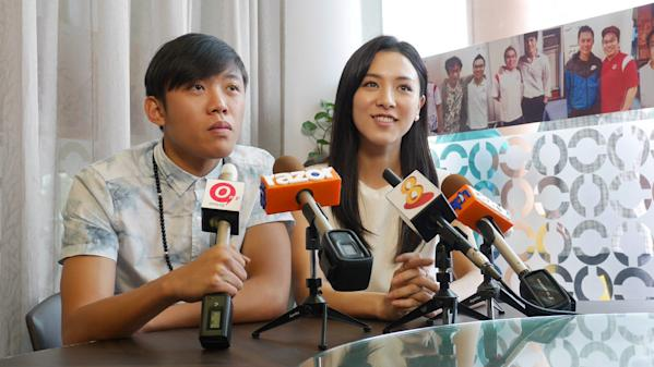 Wang Weiliang and co-star Venus Wong.