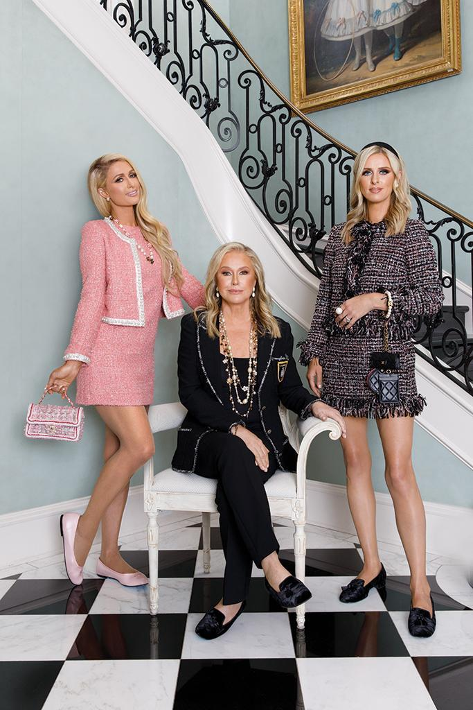 Paris, Kathy and Nicky Hilton, photographed at Kathy's Bel Air home on July 22. - Credit: CAMRAFACE
