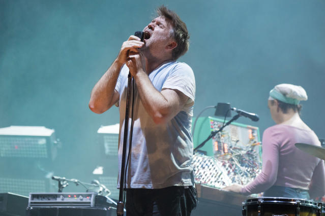 <p>James Murphy of LCD Soundsystem performs during the 2017 Voodoo Music + Arts Experience at City Park on October 27, 2017 in New Orleans, Louisiana.<br> (Photo by Erika Goldring/Getty Images) </p>