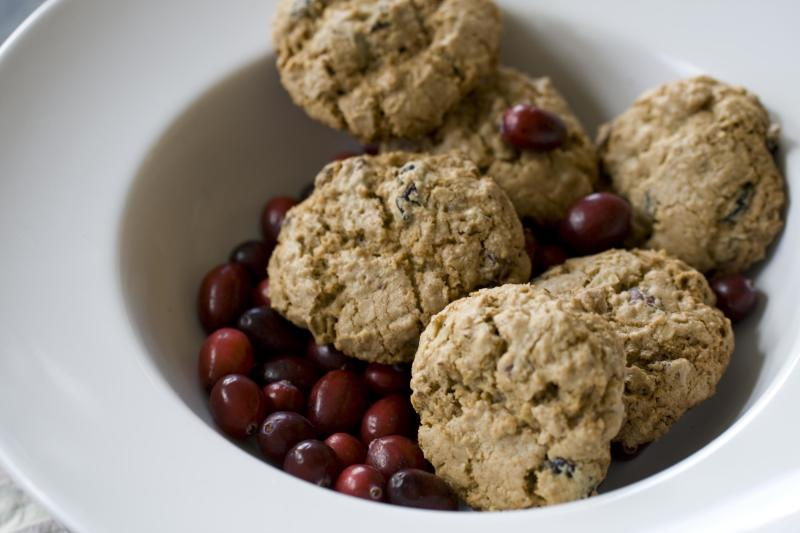 This Oct. 28 , 2013 photo shows double the oats oatmeal cookies in Concord, N.H. These double-the-oats oatmeal cookies are so jammed with oats, making them tender and wonderfully chewy and rich. (AP Photo/Matthew Mead)