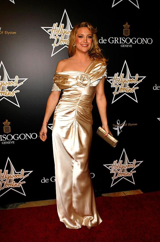 """Although Kate Hudson is a golden girl in many ways, this gown is not one of them. Jean Baptiste Lacroix/<a href=""""http://www.wireimage.com"""" target=""""new"""">WireImage.com</a> - February 21, 2008"""