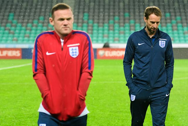 Wayne Rooney and Gareth Southgate