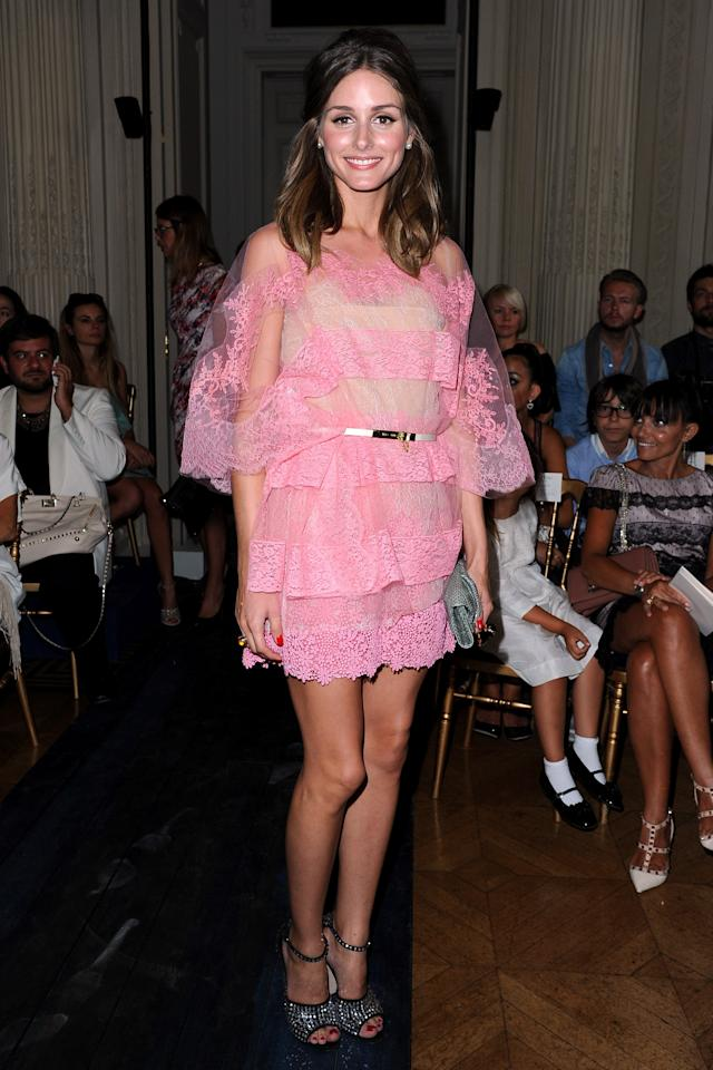 PARIS, FRANCE - JULY 04:  Olivia Palermo attends the Valentino  Haute-Couture show as part of Paris Fashion Week Fall / Winter 2012/13 at Hotel Salomon de Rothschild on July 4, 2012 in Paris, France.  (Photo by Pascal Le Segretain/Getty Images)
