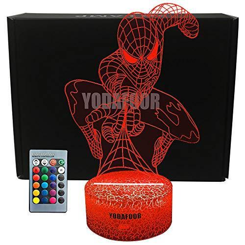 YODAFOOR Superhero Night Light Lamp Birthday Christmas Valentines Gifts for Boys Teen Kids Men…