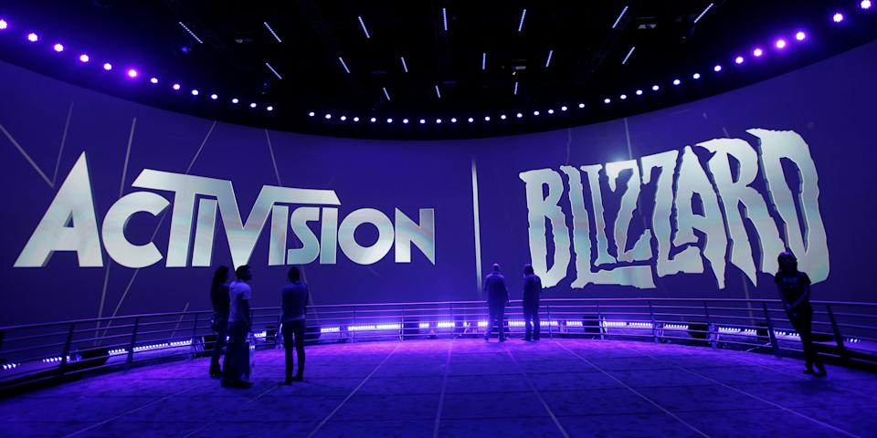 The Activision Blizzard booth at the 2013 E3 expo in Los Angeles