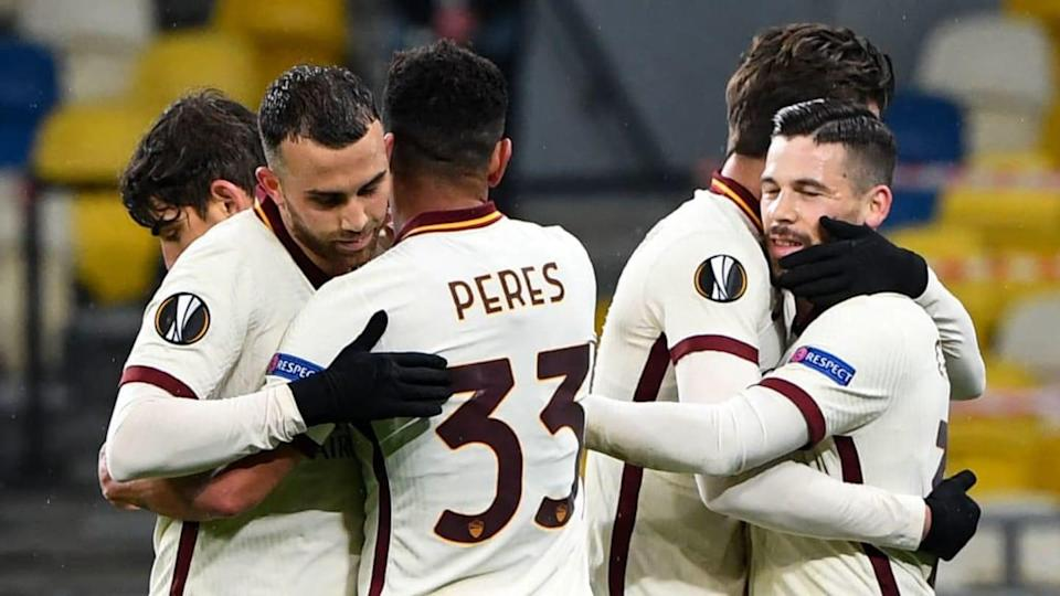 La gioia della Roma in Europa League | SERGEI SUPINSKY/Getty Images
