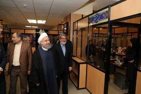 Iran's President Hassan Rouhani visits the election office in Tehran, Iran, May 19, 2017. Picture taken May 19, 2017. President.ir/Handout via REUTERS