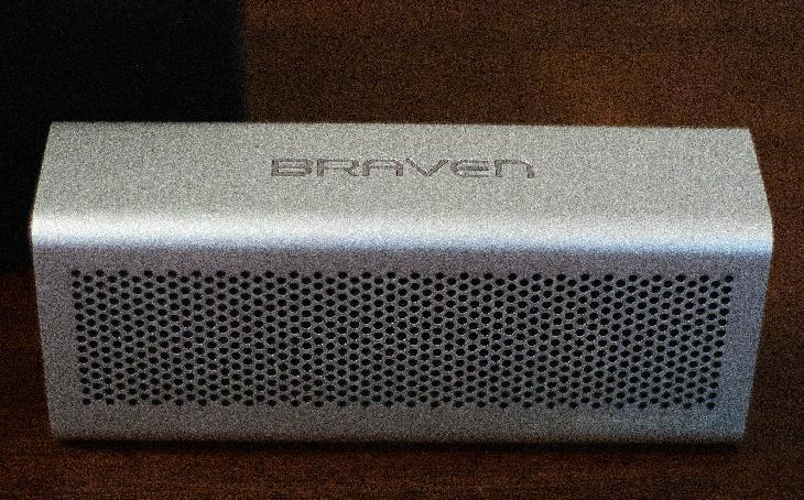 This Wednesday, June 13, 2012 photo, shows The Braven 650, a wireless speaker that connects to smartphones via Bluetooth, in Decatur, Ga. Diminutive wireless speakers are increasingly filling the shelves at electronics retailers as they quickly prove to be the perfect accessory for people who listen to the bulk of their music on mobile phones. (AP Photo/Ron Harris)