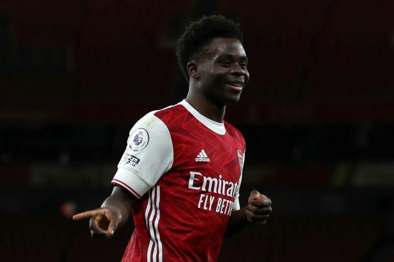Bukayo Saka scored his third goal in five Premier League games
