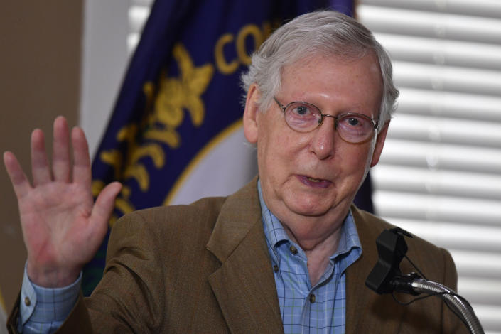 Senate Majority Leader Mitch McConnell, R-Ky. (Timothy D. Easley/AP)