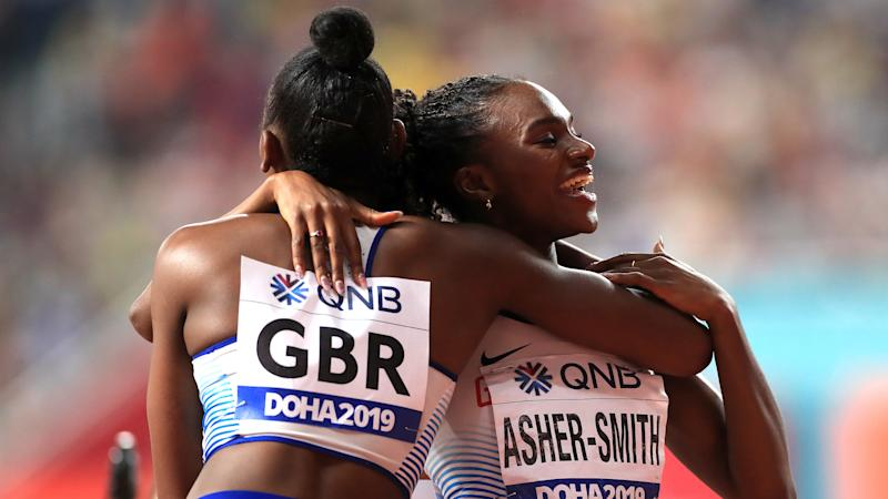 Historic hat-trick for Asher-Smith as GB women land sprint relay silver