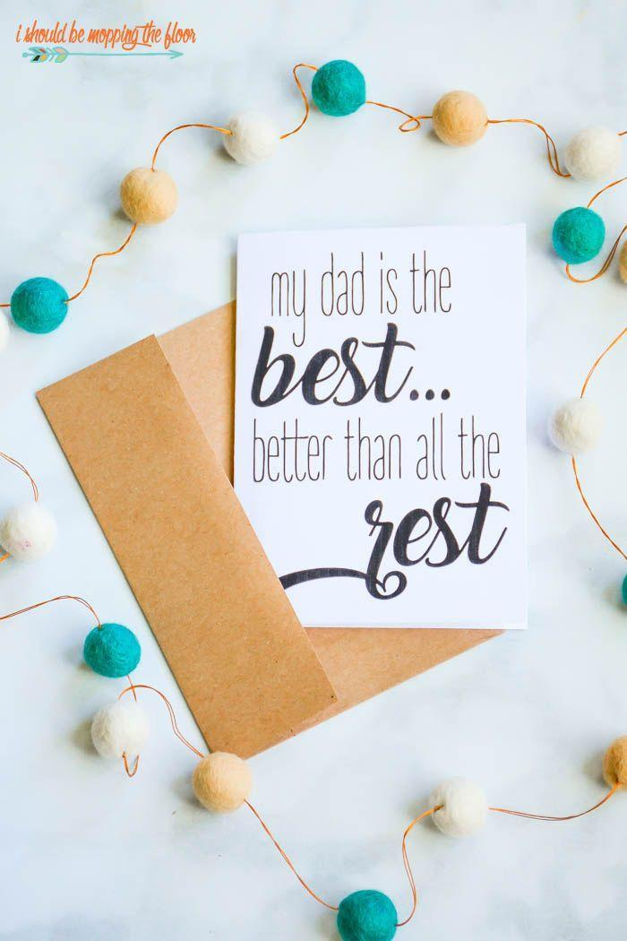 """<p>For the dad who's the best (and better than all the rest), this sweet poem card will let him know how great he is in rhyme. </p><p><strong><em>Get the printable at <a href=""""https://www.ishouldbemoppingthefloor.com/2018/05/fathers-day-poems-cards.html"""" rel=""""nofollow noopener"""" target=""""_blank"""" data-ylk=""""slk:I Should Be Mopping the Floor"""" class=""""link rapid-noclick-resp"""">I Should Be Mopping the Floor</a>. </em></strong></p>"""