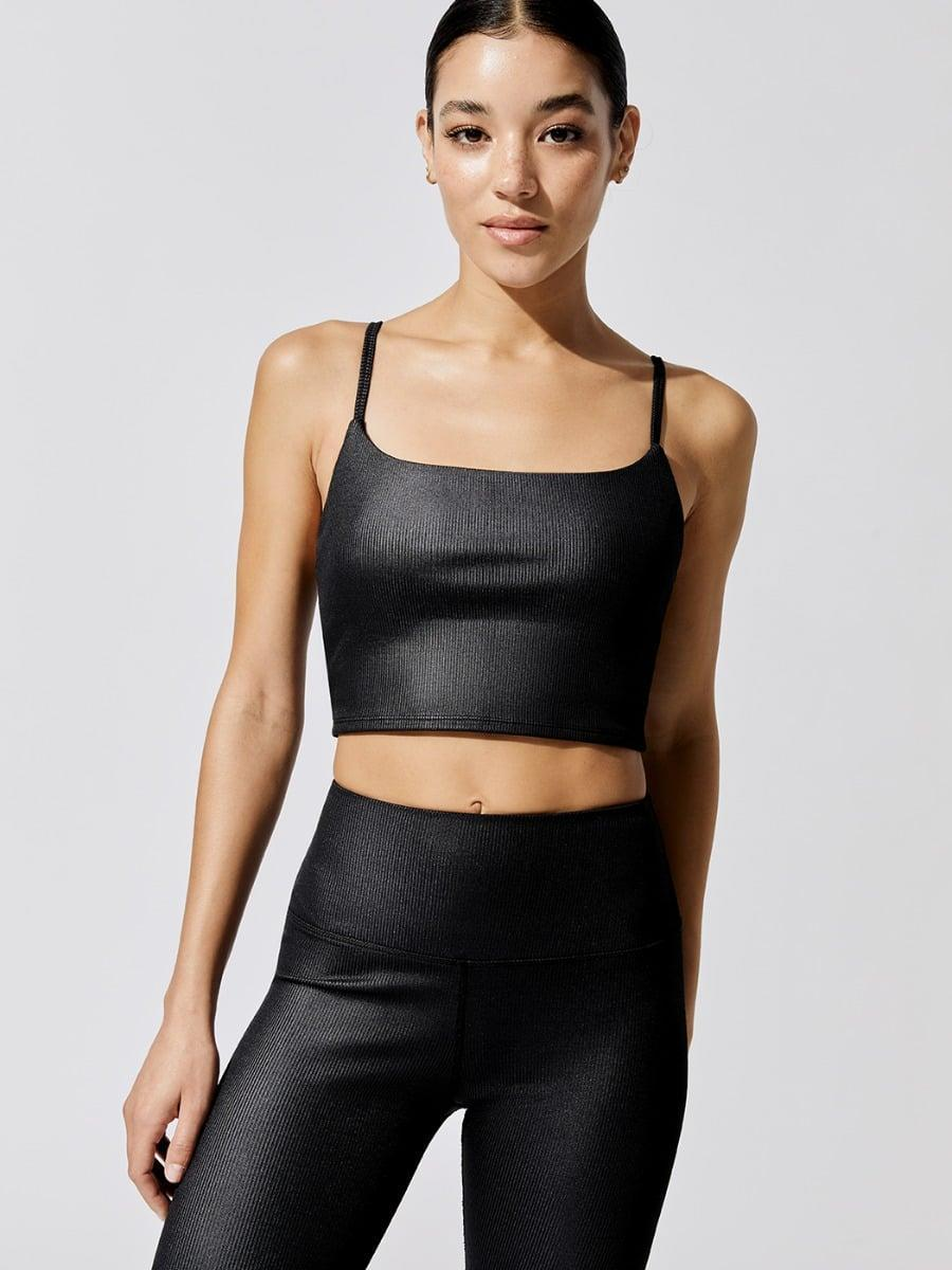 <p>You'll love this classic <span>Carbon38 Coated Ribbed Cami Bra</span> ($62, originally $88).</p>