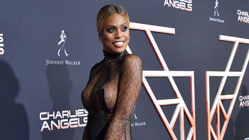 "Laverne Cox attends the premiere of Columbia Pictures' ""Charlie's Angel's"" on November 11, 2019 in Los Angeles, California."