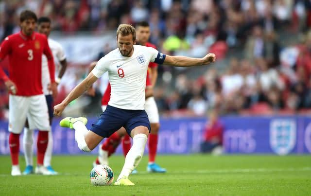 Harry Kane helped himself to a hat-trick – two from the penalty spot – as England claimed a 4-0 win over Bulgaria in their Euro 2020 qualifier at Wembley (Nick Potts/PA)