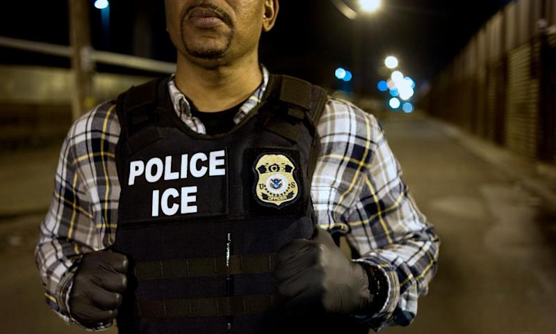 A Immigration and Customs Enforcement (Ice) agent in San Diego, California.