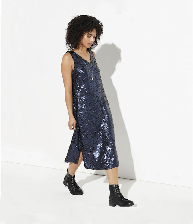 "<p>Sequin Midi Dress, $51, <a href=""https://www.kohls.com/product/prd-3074781/klab-sequin-midi-dress.jsp?prdPV=1"" rel=""nofollow noopener"" target=""_blank"" data-ylk=""slk:kohls.com"" class=""link rapid-noclick-resp"">kohls.com</a> </p>"