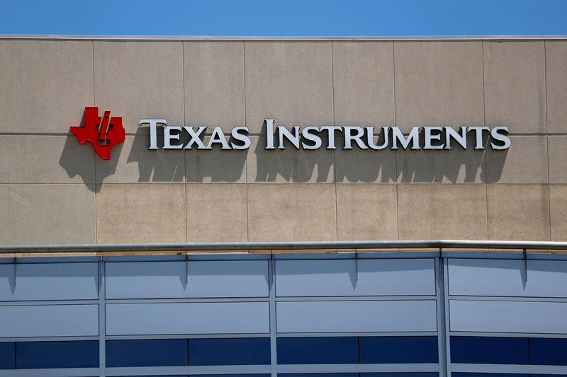 A Texas Instruments Office is shown in San Diego, California