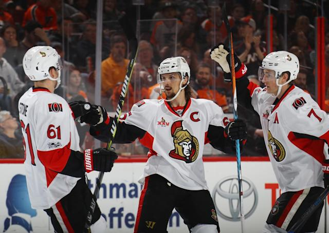 <p>Ottawa Senators captain Erik Karlsson had his consecutive-games-played streak snapped on Thursday, as the Norris Trophy candidate was forced to sit out Ottawa's game in Minnesota with an injury resulting from a blocked-shot two nights ago against Philadelphia. </p><p>Karlsson hasn't missed a game since the streak began in April of 2013 — a span of 324 consecutive games over a whopping 1,438 days, all spent with the Senators. It's an impressive streak, to say the least, but it's just one of many extraordinary iron man streaks in the history of the NHL. </p>