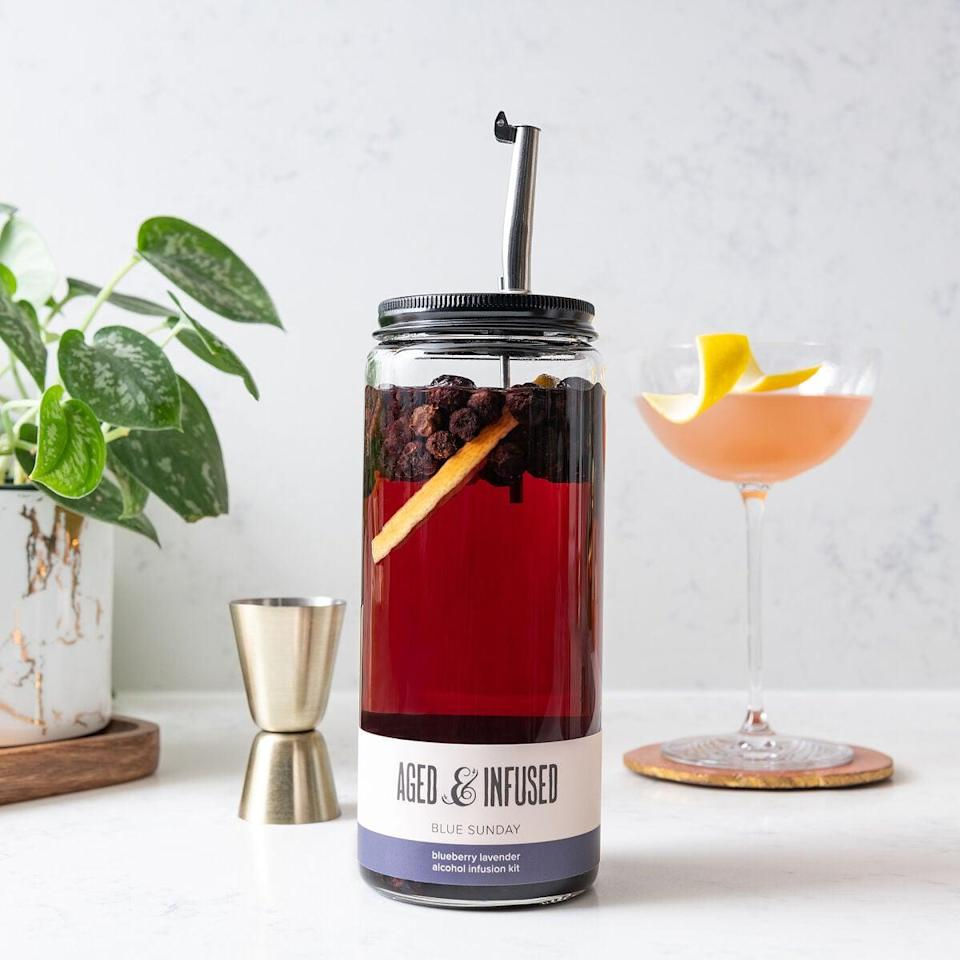 <p>Learn how to make artisanal cocktails with the <span>Infuse &amp; Pour Alcohol Kit </span> ($25).</p>