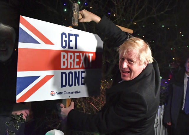 Boris Johnson has ruled out any extension to the transition period (AP)