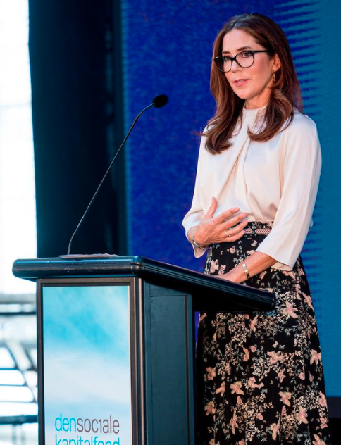 Princess Mary speaking at a conference