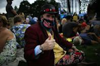 Some attendees at the New York 'Homecoming' concert wore masks, even as they were not required at the outdoor event, except for unvaccinated children
