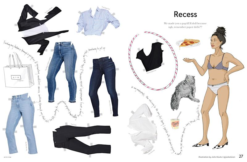 AYR's catalog comes complete with paper dolls, for maximum nostalgic effect.